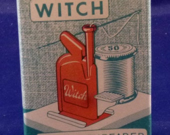 Vintage Western Germany Witch Needle Threader Kit, 1950s