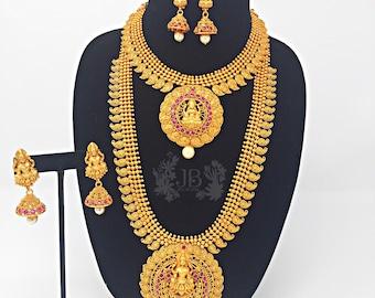 Antique gold set for Bharatnatyam, Kuchipudi, Parties, Engagement, Weddings, Birthdays etc..