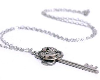 Steampunk Vintage Watch n Key Necklace