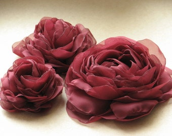 Burgundy hair flower Wedding hair flower Burgundy headpiece Burgundy hair peony Wedding hair peony Burgundy wedding Wedding hair piece