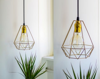 Geometric Metal Pendant Lamp
