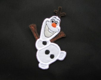 Olaf Snowman Frozen Iron on No Sew Embroidered Patch Applique