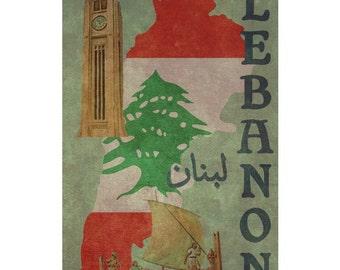 LEBANON 1F- Handmade Leather Wall Hanging - Travel Art  sc 1 st  Etsy & Leather wall hanging   Etsy