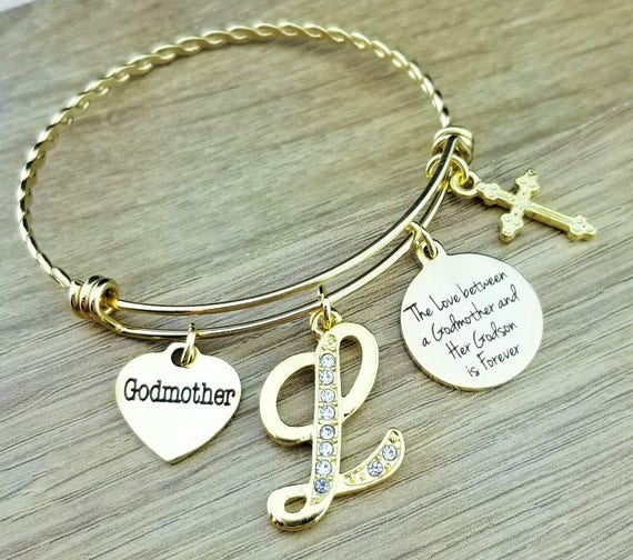 dkbwbgml bangle stamped godmother bracelet birthstone hand dkbwbgm
