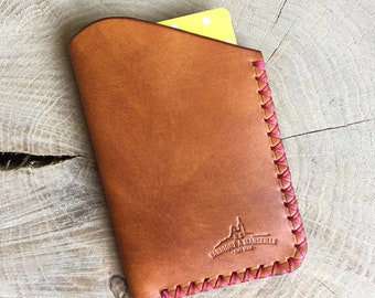 Slim leather card case