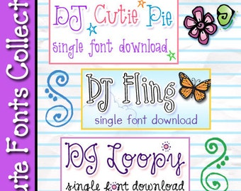 Cute FONTS Collection Download