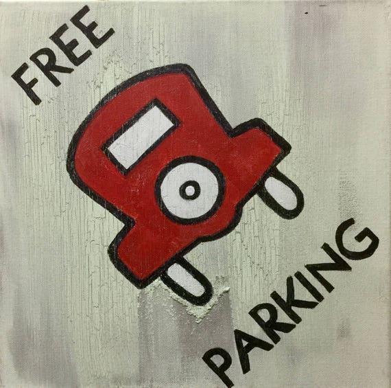 Monopoly free parking art property space board game art kids te gusta este artculo malvernweather Image collections
