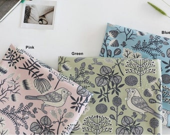 Laminated Oxford Cotton Fabric in 3 Colors By The Yard