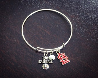 Red STL logo expandable bracelet