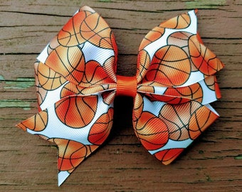 Basketball/ Hair bow/Girls/Baby Hairbow/ Sports/Sassy Southern Charm