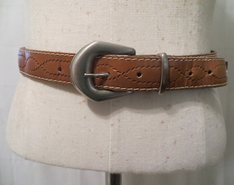Vintage Carson, Pirie and Scott Leather Belt, Size Medium