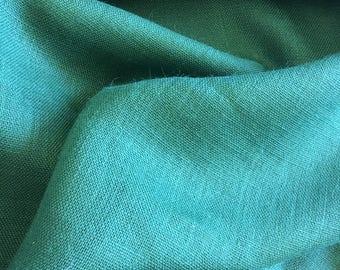 "Hunter Green Burlap Fabric 60"" Wide Per Yard"