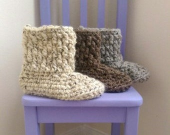Chunky Slipper Boots *PDF PATTERN ONLY* Instant Download Crochet Pattern