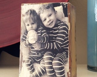 Wood Photo Block - Your Photo on Wood -  Wood Photo Transfer, Photo Transfer, Party Decor, Wedding Decor, Wedding Favor - FREE Domestic Ship