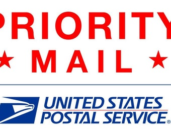 Priority Mail Upgrade to US Flat Rate- Inculdes Insurance and Tracking