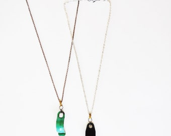 Whats Green Black and Best Friends necklaces
