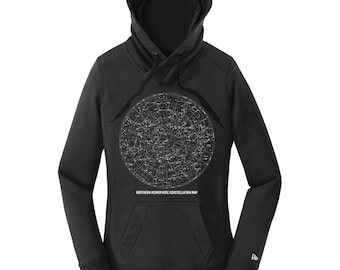 Constellation Map Science Hoodie Nerdy Hoodies for Women Science Teacher Gifts for Teachers Nerdy Boyfriend Gifts for Him Comfy Sweatshirt