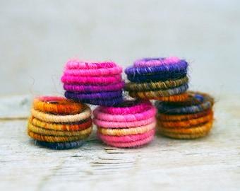 Big Hole Handmade Fabric Textile Beads for Artisan Jewelry Designs