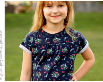 Violet Top - Sizes 2 to 10 - digital pdf sewing pattern
