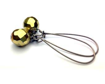 Gold Earrings - Matte Gold Earrings - Gold Dangle Earrings - Matte Gold Jewelry - Goft For Her - Long Earrings - Long Gold Earrings