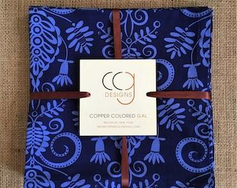 100% Cotton 6 pc. Blue Napkin Set