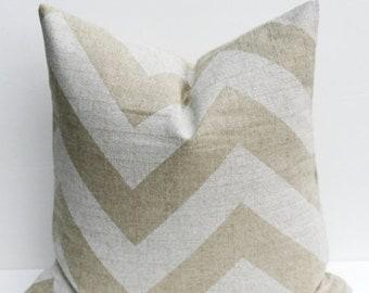 15% Off Sale Euro Pillow Cover Tan Pillow Euro Pillow Cover - Floor Pillow, Pillows Beige Pillow- Euro Sham - Burlap Pillow - Chevron Pillow