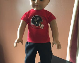 18 inch boy doll clothes a fun outfit in the ATLANTIC FALCONS theme