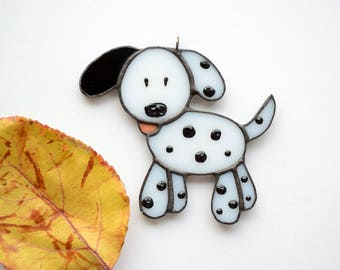 "Stained glass Christmas decoration ""Dalmatian"""