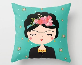 Gift For Woman Artists, Frida Kahlo Gift, Mexican Artist Frida Kahlo Gift, Frida Gift, Frida Throw Pillow Decor, Perfect Christmas Gift Her