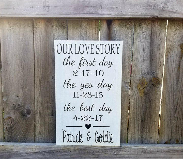 Our Love Story Wedding Idea: Our Love Story Wedding Sign Wedding Decor The First Day