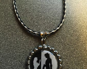 Edward Scissorhands & Kim Silhouette Necklace