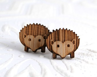 Hedgehog Studs in bamboo