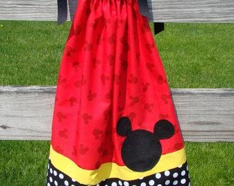 Mickey Mouse Pillowcase Style Dress