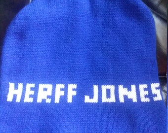 Herff Jones Sock Hat made in USA   blue/white/high school /class ring/Indiana/trophy/super bowl colts/heismann/WINTER/salesman
