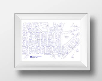 Twin Peaks - Map Poster - Fictional TV Blueprint Map for Twin Peaks Washington - Dale Cooper - Laura Palmer - Twin Peaks Gift