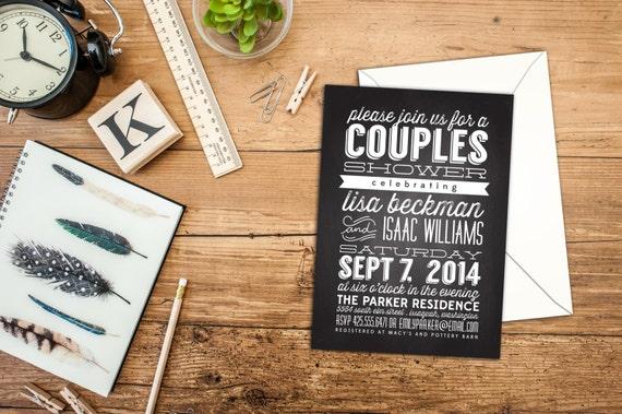 Modern Couple Wedding Shower Invitation