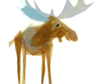 Heathcliff Moose - Animal Art Print