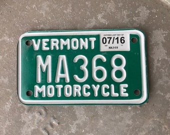 Vermont Motorcycle License Plate