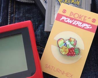 Poke Powerups+ Acrylic Pin