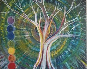 Tree of Energy Original Acrylic Painting