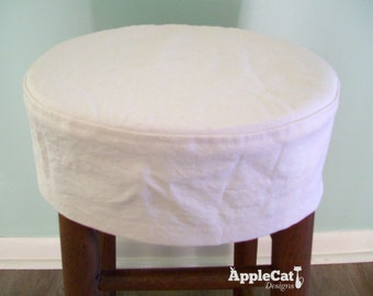 Round Bar Stool Slipcover Topstitched, No Cushion, Barstool Cover, Barstool Slipcover