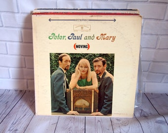 Peter Paul & Mary - Moving Vinyl Record (1963)