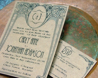 Art Deco wedding invitations, Vintage Wedding Invitations