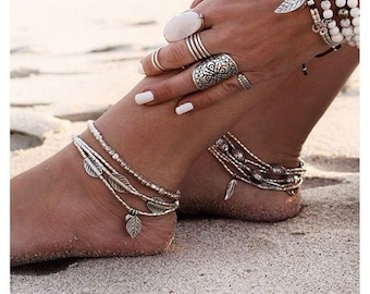 Summer Dream anklet / / / Bohemian gypsy ethnic anklet