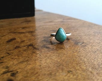 Ethically sourced Canadian Amazonite Ring, Ready to Ship size 7