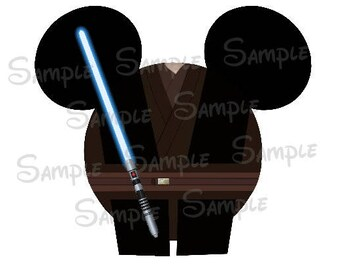 Anakin Skywalker inspired Character Mouse head DIGITAL printable file DIY