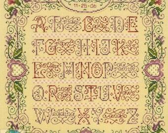 A to Z Wedding Sampler Cross Stitch Kit - Janlynn
