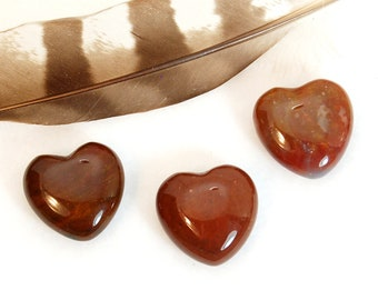 RED JASPER Heart Stones | Red Crystal Heart | Wedding Favor | Remembrance Gift | Chakra Energy Healing Crystal Stones | Recovery Gift