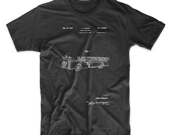 Firetruck 1940 Patent T Shirt, Fire Truck Shirt, Firefighter Shirt, Fireman Gift, Fire Engine, PP0506