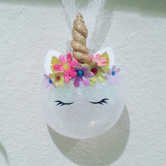 Unicorn Glitter Ornament